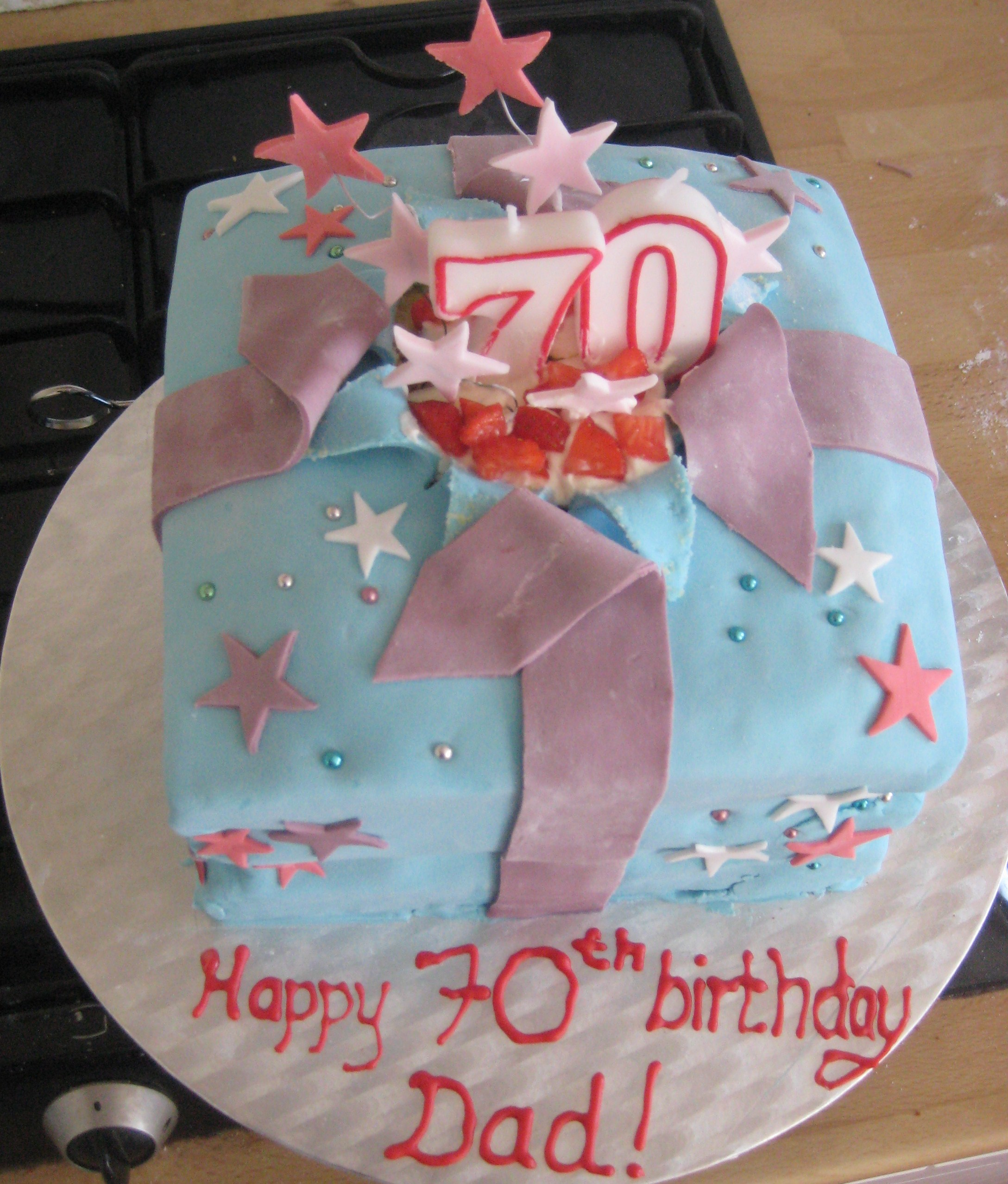 Birthday Wrapped Gift Box Cake